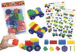 Stavebnice Hi-Qube Kindergarten 35ks - 4 vozidla