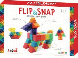 Magnetická stavabnice Flip&Snap 36ks