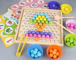 Døevìná mozaika s hrou Montessori - zvìtšit obrázek