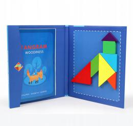Døevìný magnetický Tangram Montessori