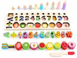 Døevìné ovoce a èíslice Montessori